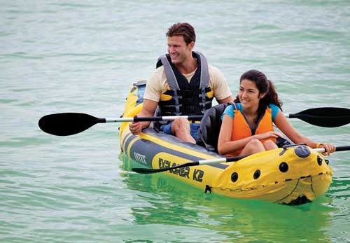 comfortable inflatable kayak